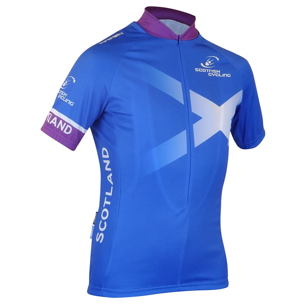 Scottish Cycling Replica Short Sleeved Jersey 3/4 Zip