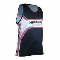 Impsport Patriot Cerise Running Vest - Full Back