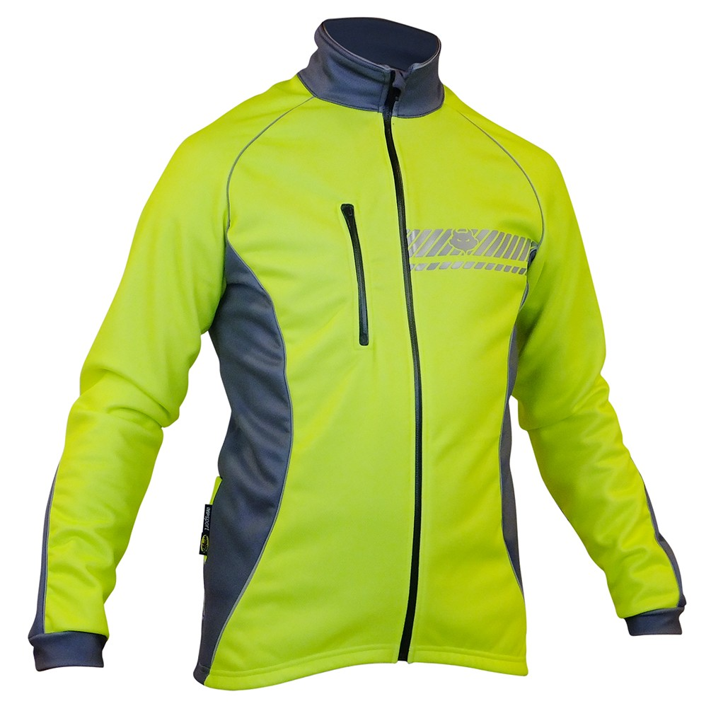Impsport Polar Winter Cycling Jacket (Flo Yellow/Grey) Front