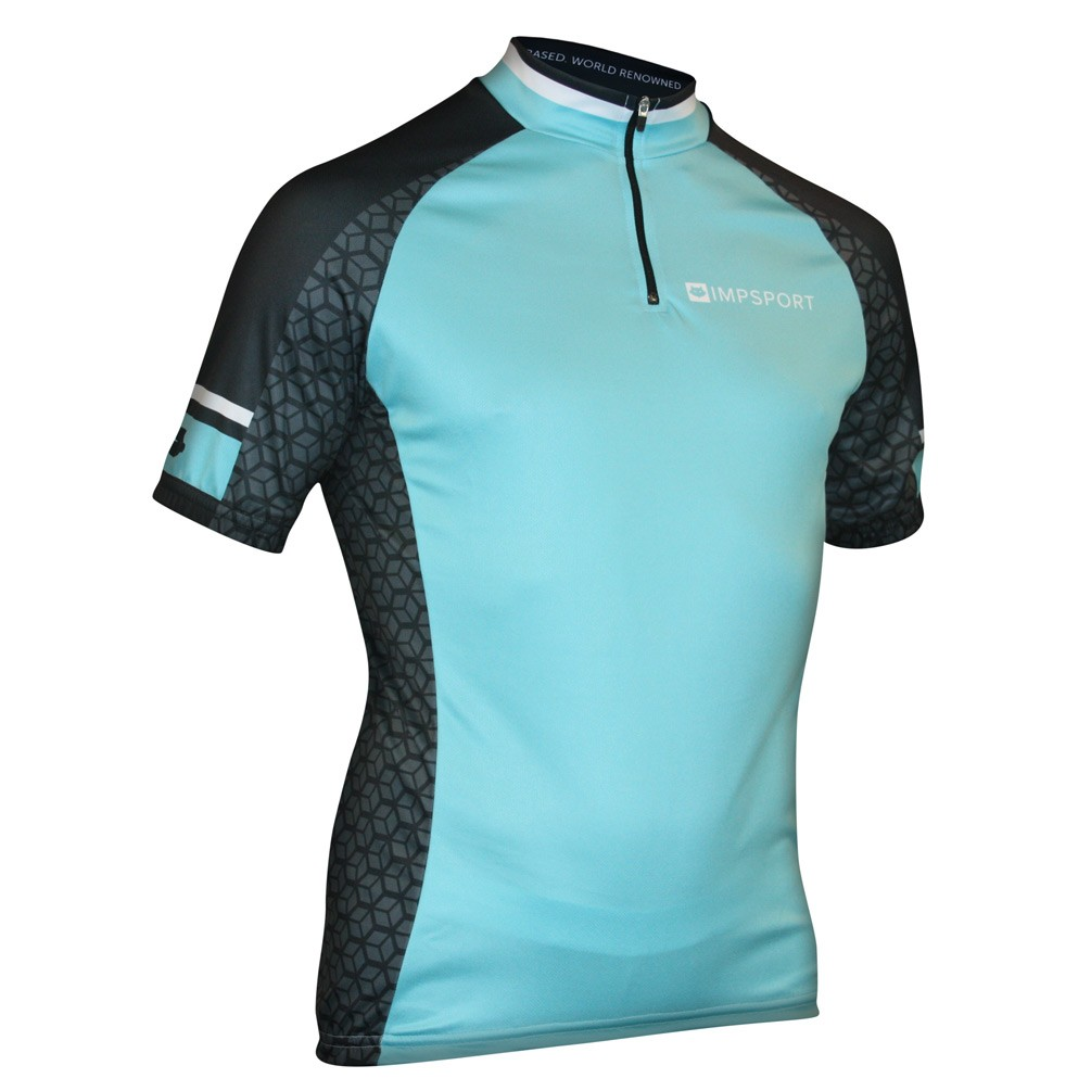 Impsport Nemesis Blue Cycling Jersey Front