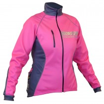Impsport Polar Winter Cycling Jacket (Flo Pink/Grey) Front