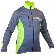 Impsport Polar Winter Cycling Jacket (Grey/ Flo Yellow) Front