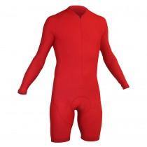 Impsport Mens Long Sleeve Skinsuit Red