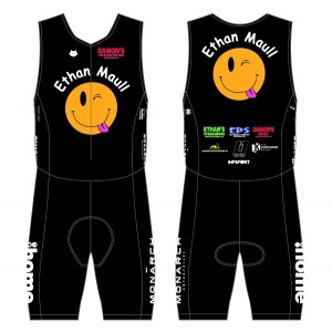 Ethan Maull Charity Triathlon Suit - Back Zip