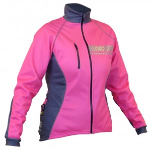 Impsport Polar Winter Cycling Jacket (Flo Pink/Grey) Front