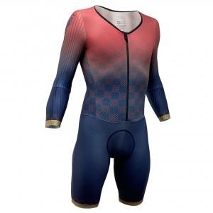 Impsport T3.1 Racesuit - Sunset Red (Double Number Pocket)
