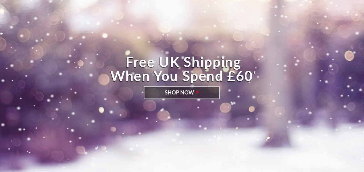 Free UK shipping when you spend £60